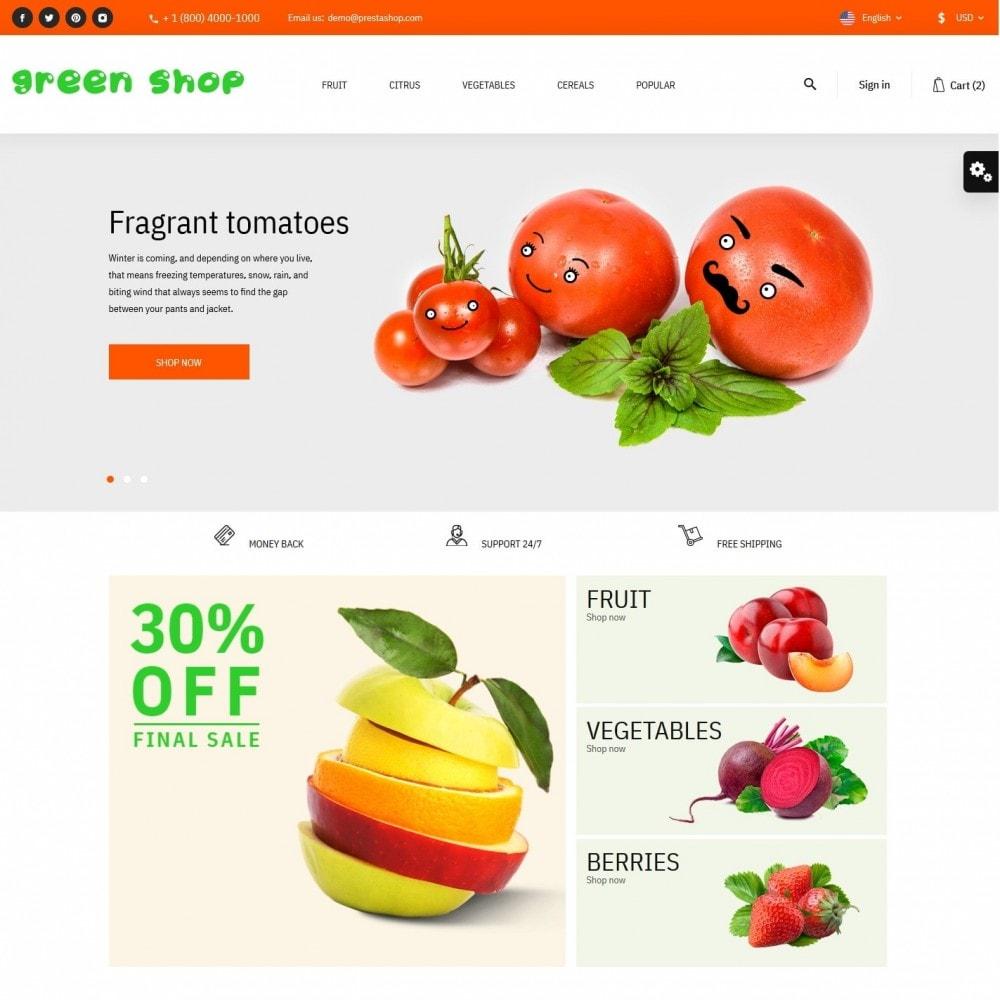 theme - Food & Restaurant - Green shop - 2