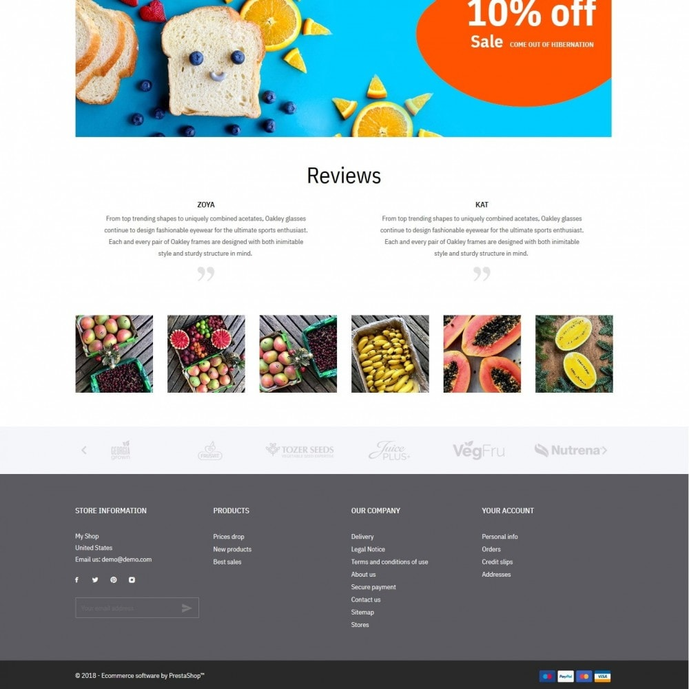 theme - Food & Restaurant - Green shop - 4
