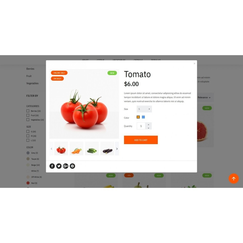 theme - Food & Restaurant - Green shop - 11