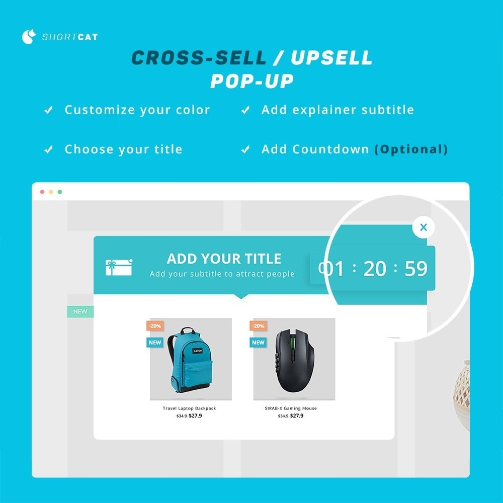 module - Cross-selling & Product Bundles - Cross selling Upsell with Popup, Countdown Timer, Title - 5