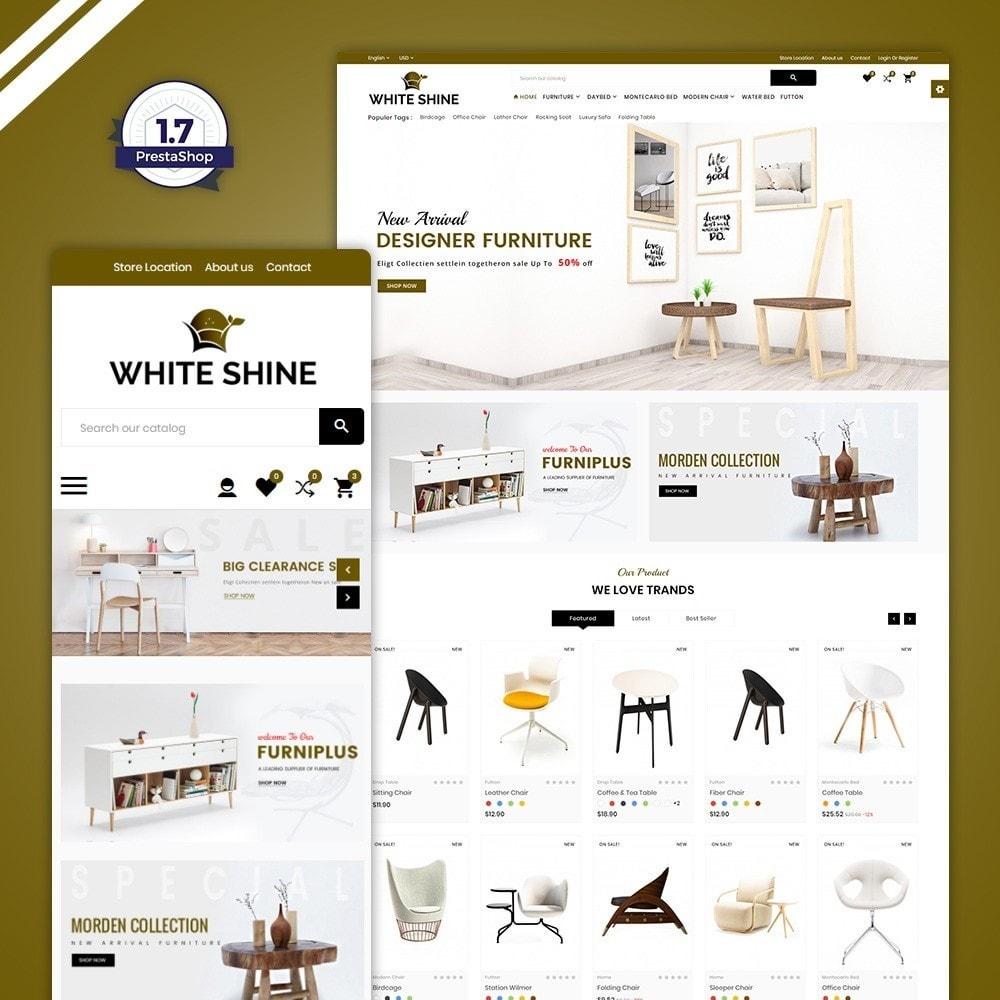 theme - Fashion & Shoes - White Shine – Wood Furniture Mega Shop - 1