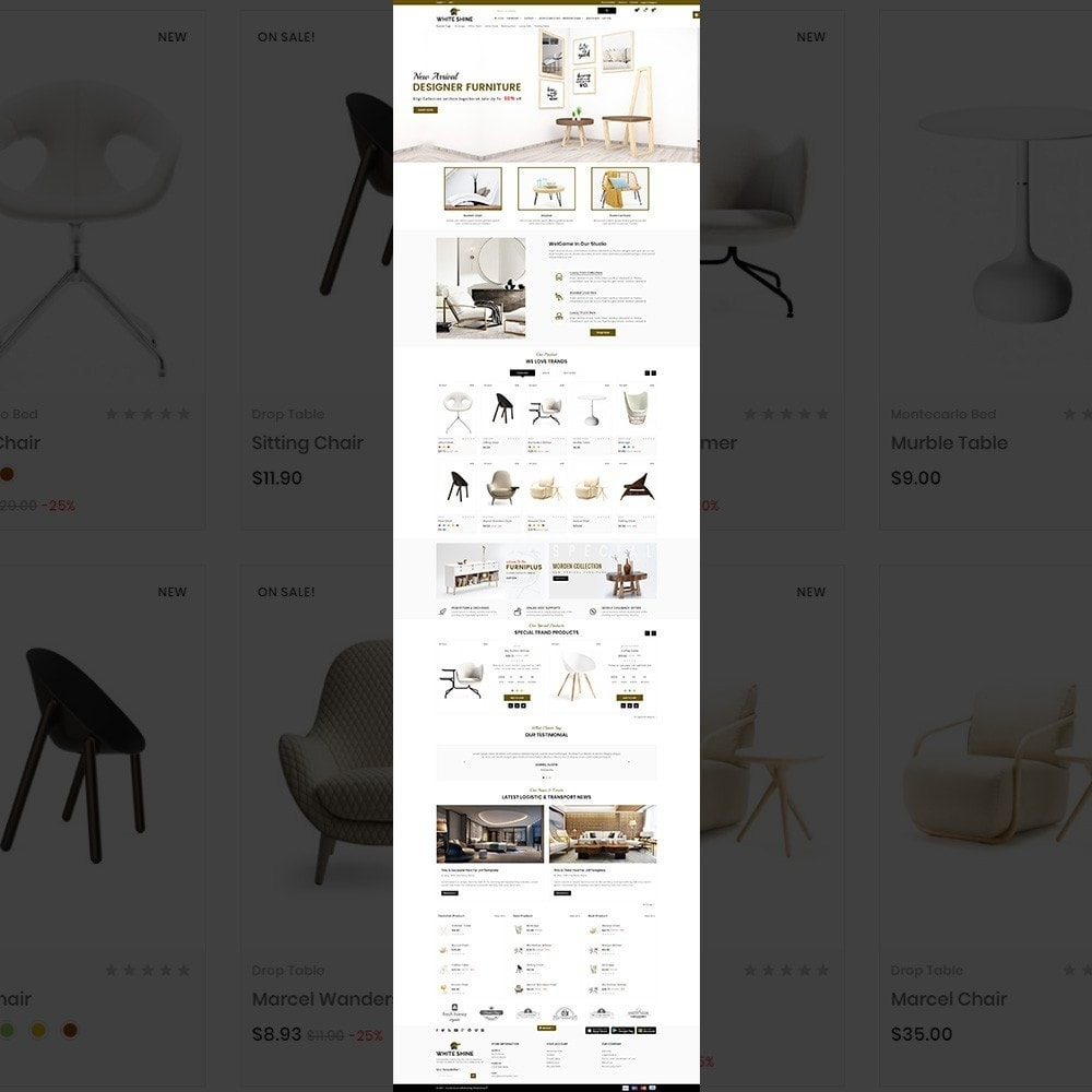 theme - Fashion & Shoes - White Shine – Wood Furniture Mega Shop - 2