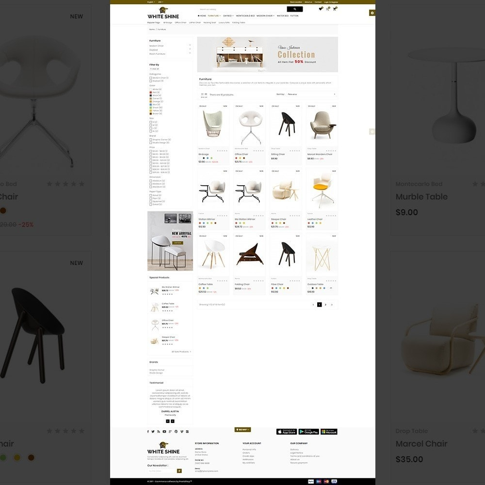 theme - Fashion & Shoes - White Shine – Wood Furniture Mega Shop - 3