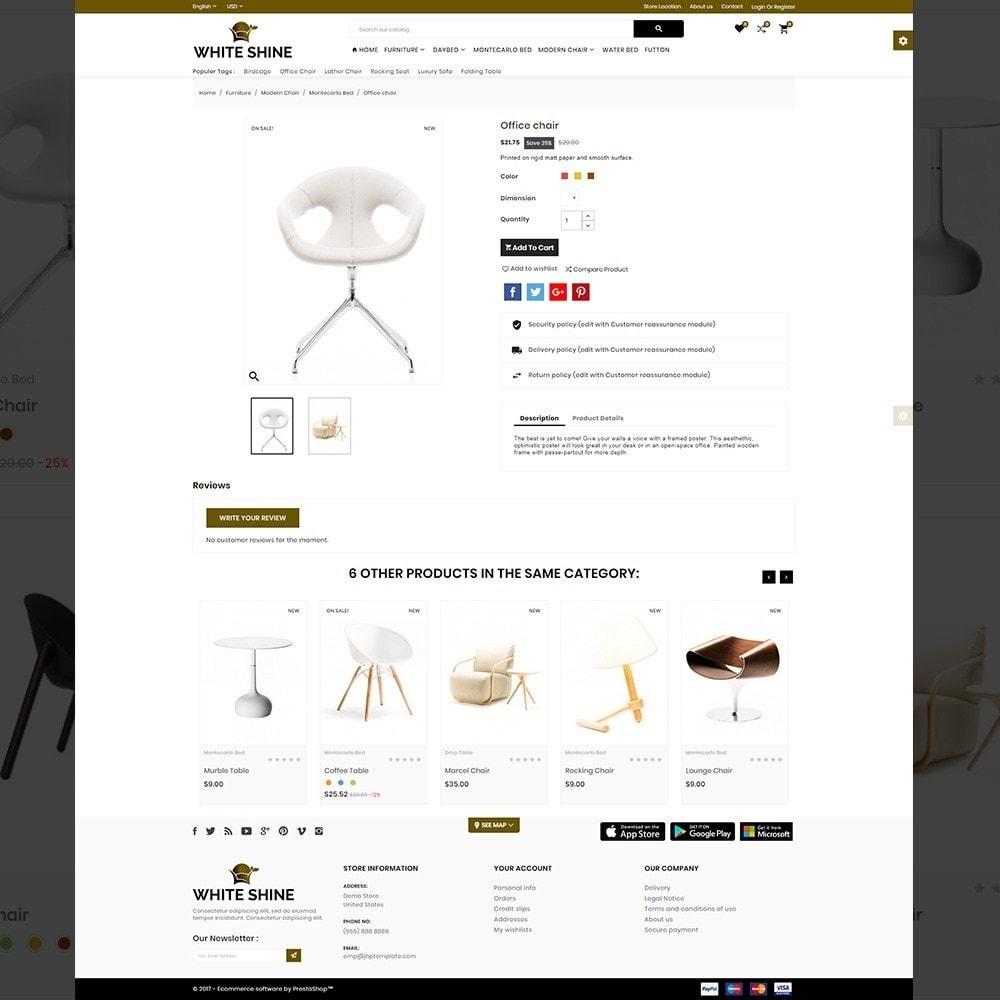 theme - Fashion & Shoes - White Shine – Wood Furniture Mega Shop - 4