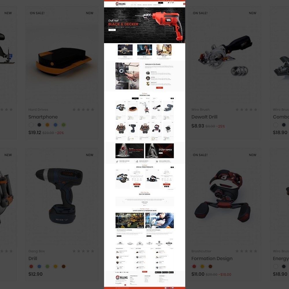 theme - Auto & Moto - Drilling –Tools Mega Shop - 2