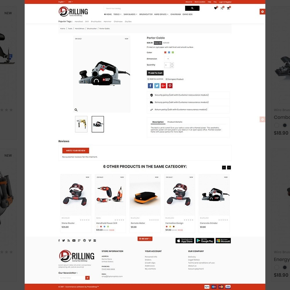 theme - Auto & Moto - Drilling –Tools Mega Shop - 4