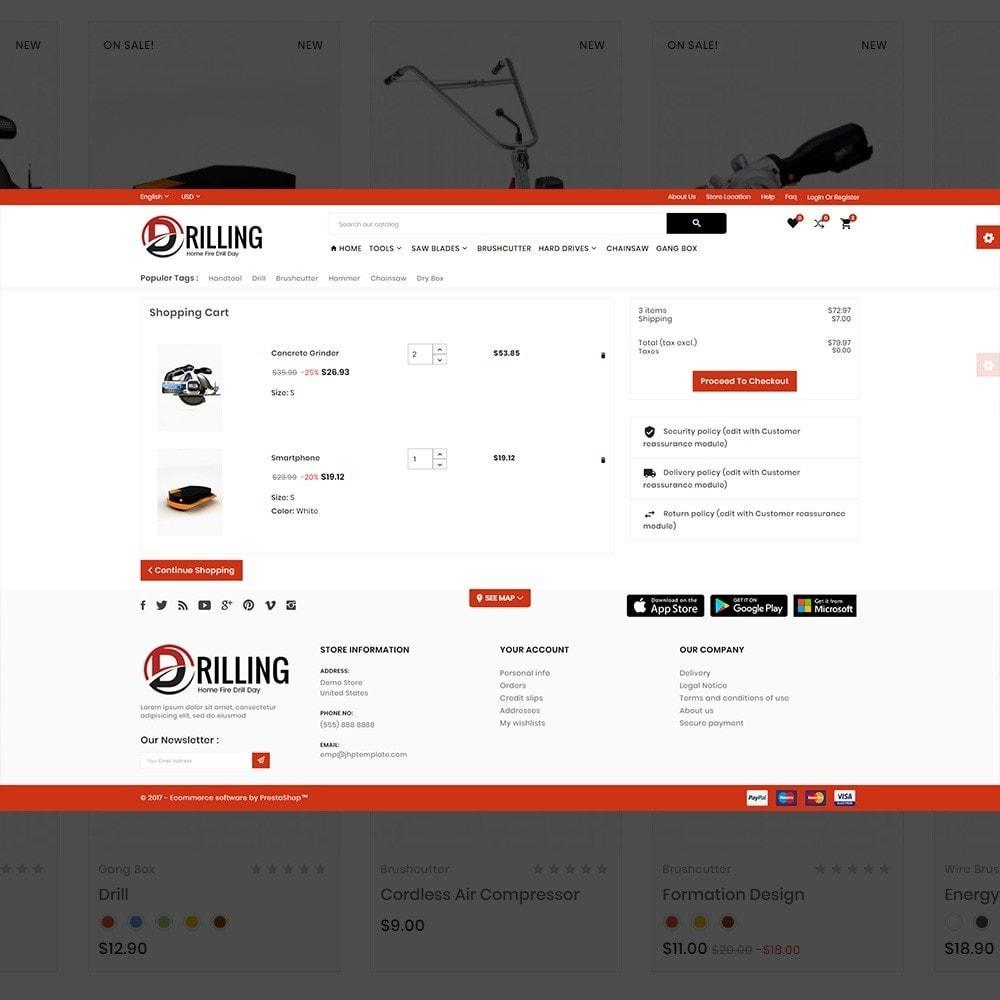 theme - Carros & Motos - Drilling –Tools Mega Shop - 5