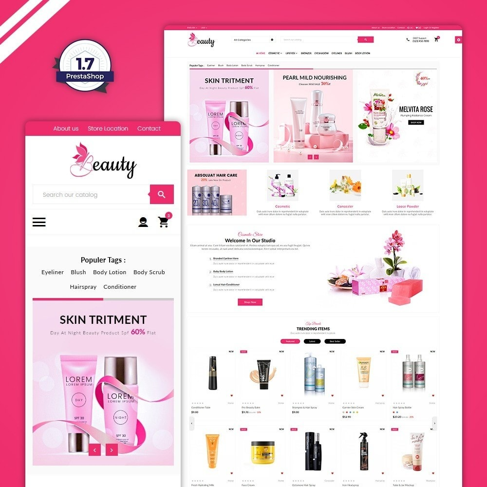 theme - Saúde & Beleza - The Beauty Shop - 1
