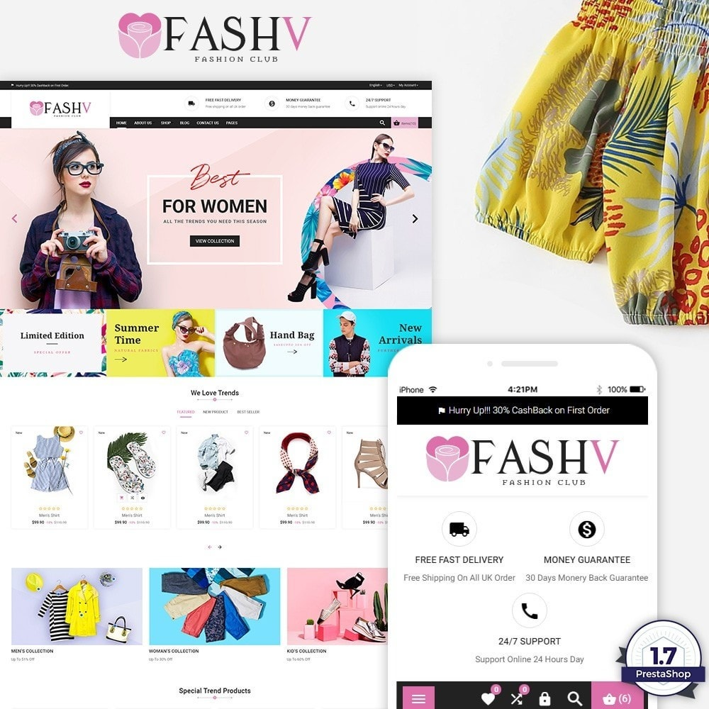 theme - Mode & Chaussures - FashV – Fashion Stylish Super Store - 1
