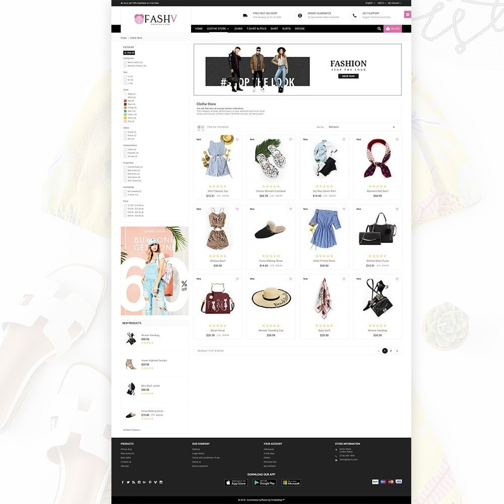 theme - Mode & Chaussures - FashV – Fashion Stylish Super Store - 3