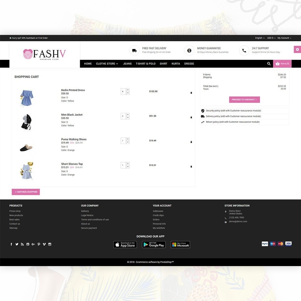 theme - Mode & Chaussures - FashV – Fashion Stylish Super Store - 5
