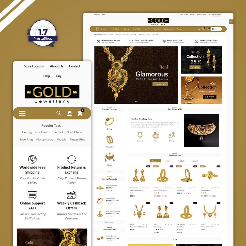 theme - Bijoux & Accessoires - The Gold- Jewelry Store - 1