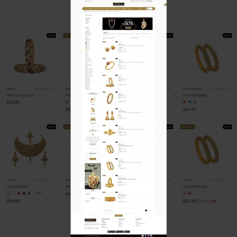 theme - Bijoux & Accessoires - The Gold- Jewelry Store - 3