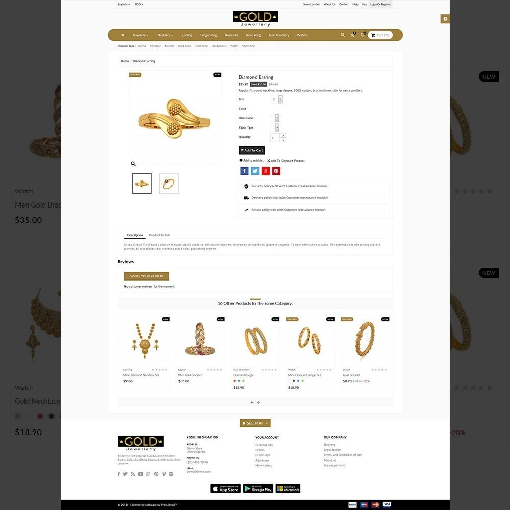 theme - Bijoux & Accessoires - The Gold- Jewelry Store - 4