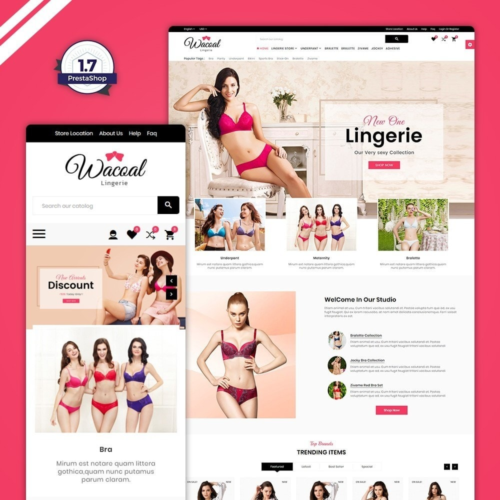 theme - Lingerie & Adultos - The lingerie Store - 1