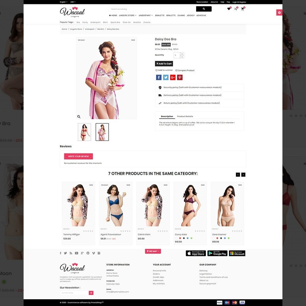 theme - Lingerie & Adulte - The lingerie Store - 4