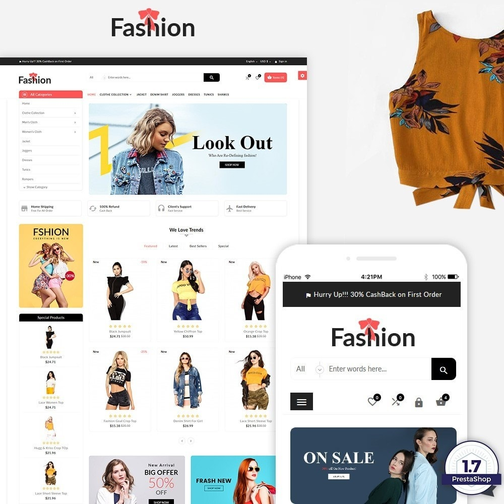theme - Fashion & Shoes - Stylish Fashion Multi Store - 1