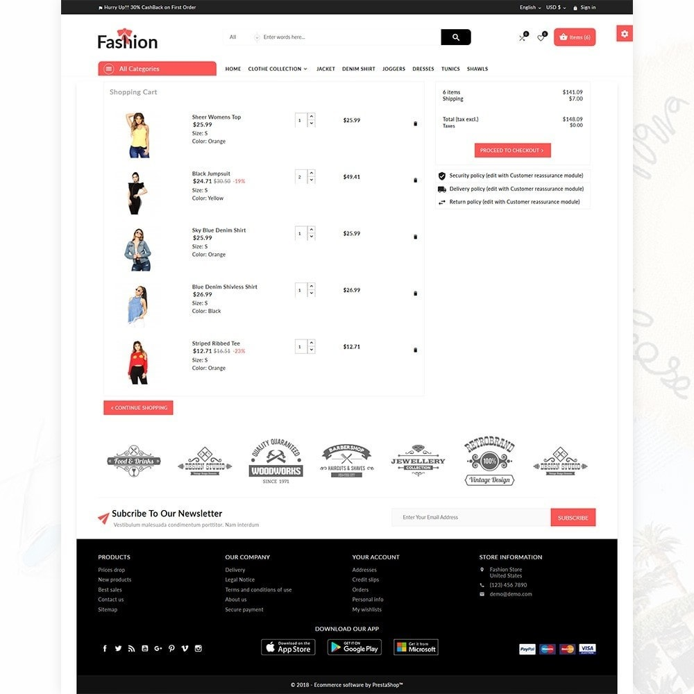 theme - Fashion & Shoes - Stylish Fashion Multi Store - 5