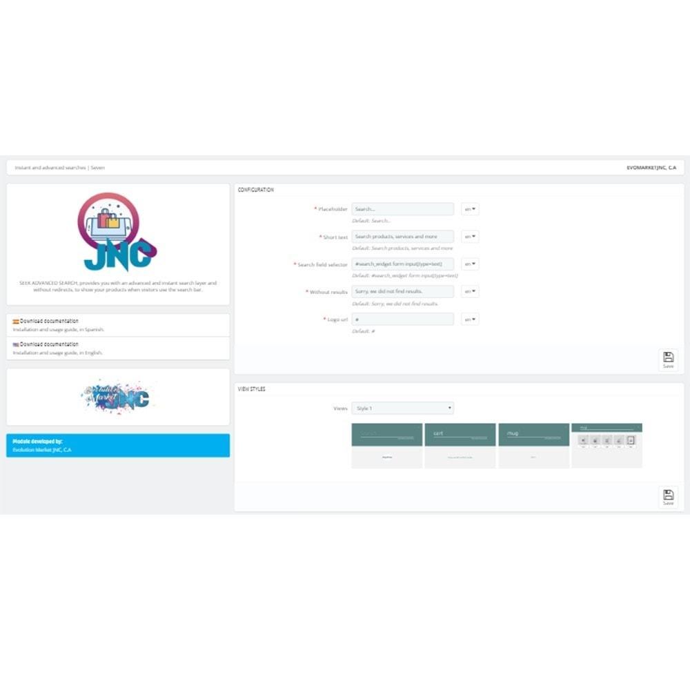 module - Поиск и фильтры - Instant and advanced searches | Seven - 2