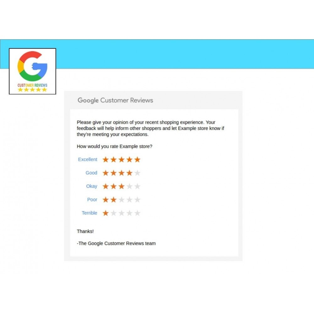 module - Klantbeoordelingen - Google Customer Reviews - 2