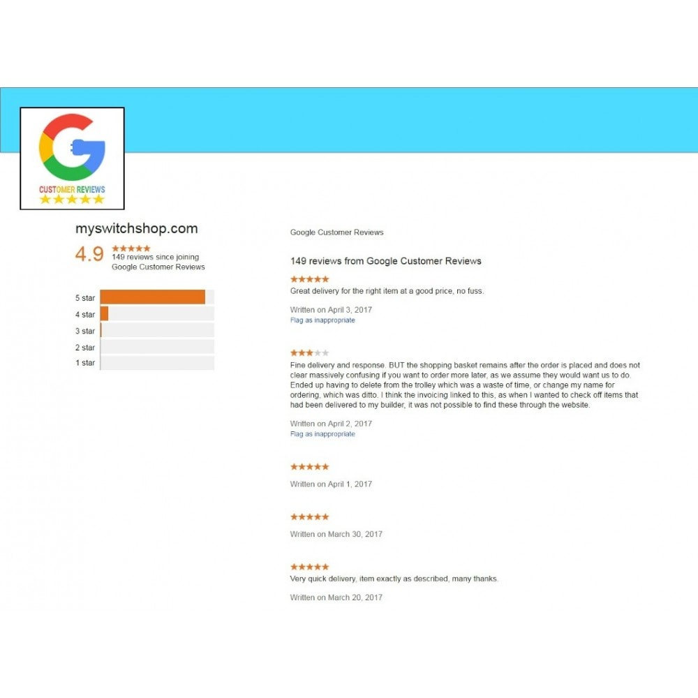 module - Klantbeoordelingen - Google Customer Reviews - 8