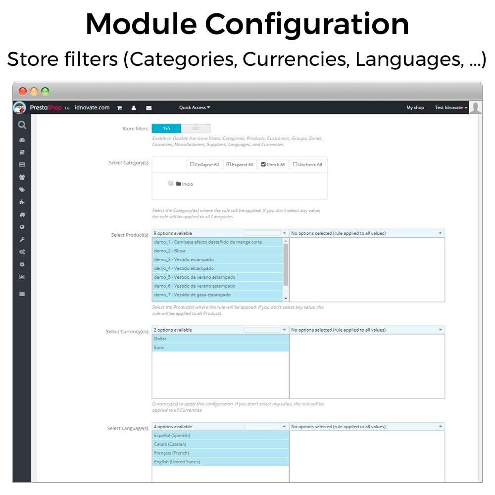 module - Inscripción y Proceso del pedido - Mínimos, máximos, múltiples y límites de importe - 5