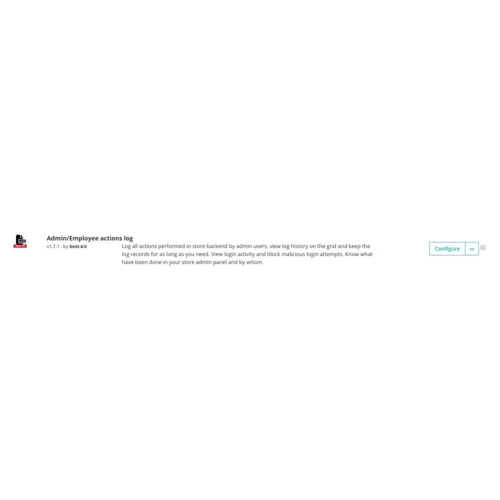 module - Ferramentas de Administração - Admin/Employee log of changes and actions - 2