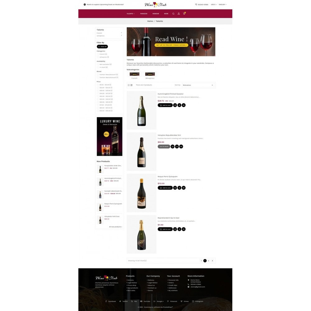 theme - Bebidas & Tabaco - Wine Club - 4