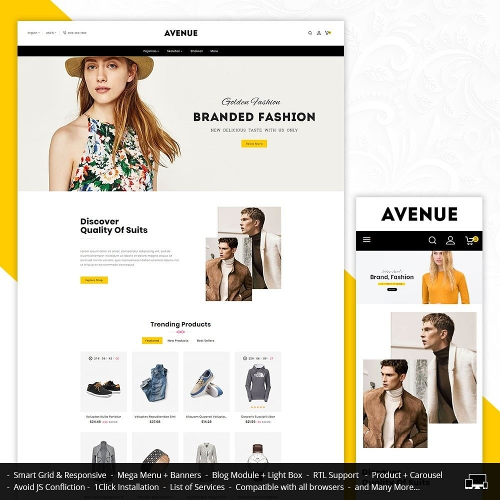 theme - Fashion & Shoes - AVENUE Fashion - 1