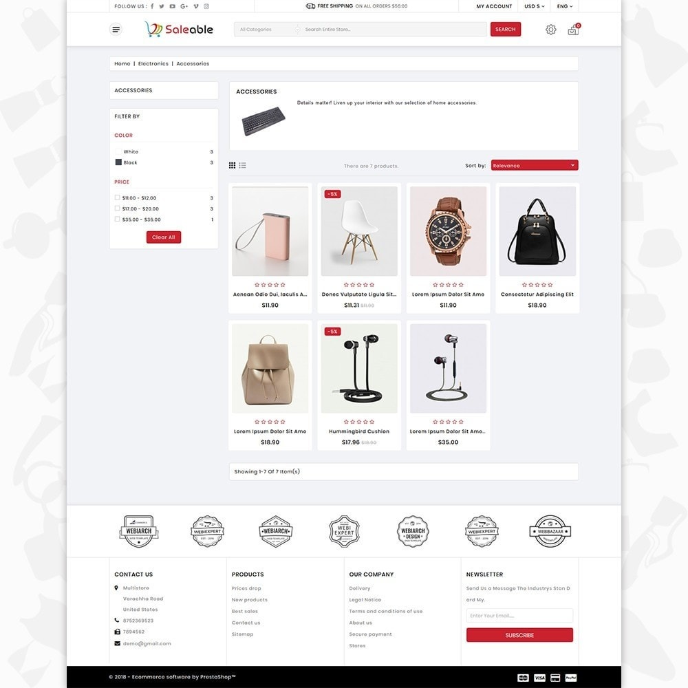 theme - Electronique & High Tech - Saleable - Online Shopping Trade - 3