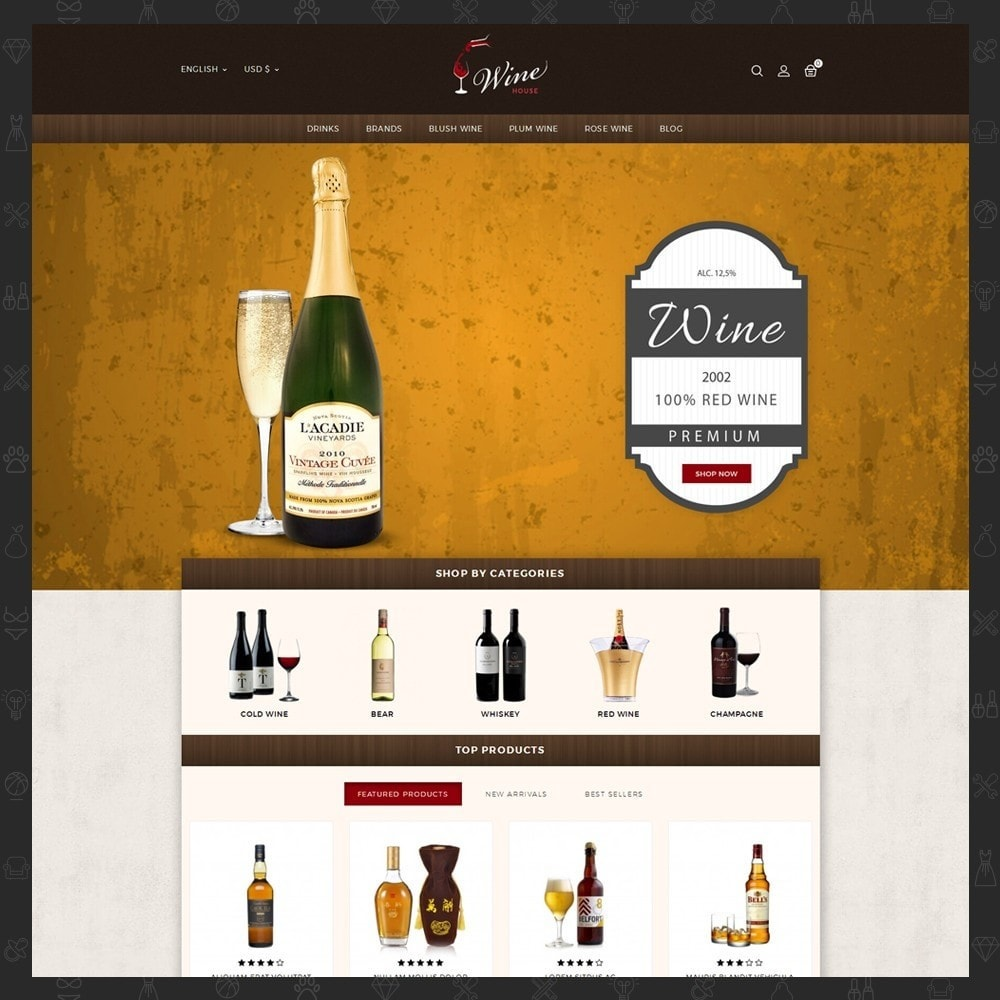 theme - Drink & Tobacco - Wine House Online Store - 2