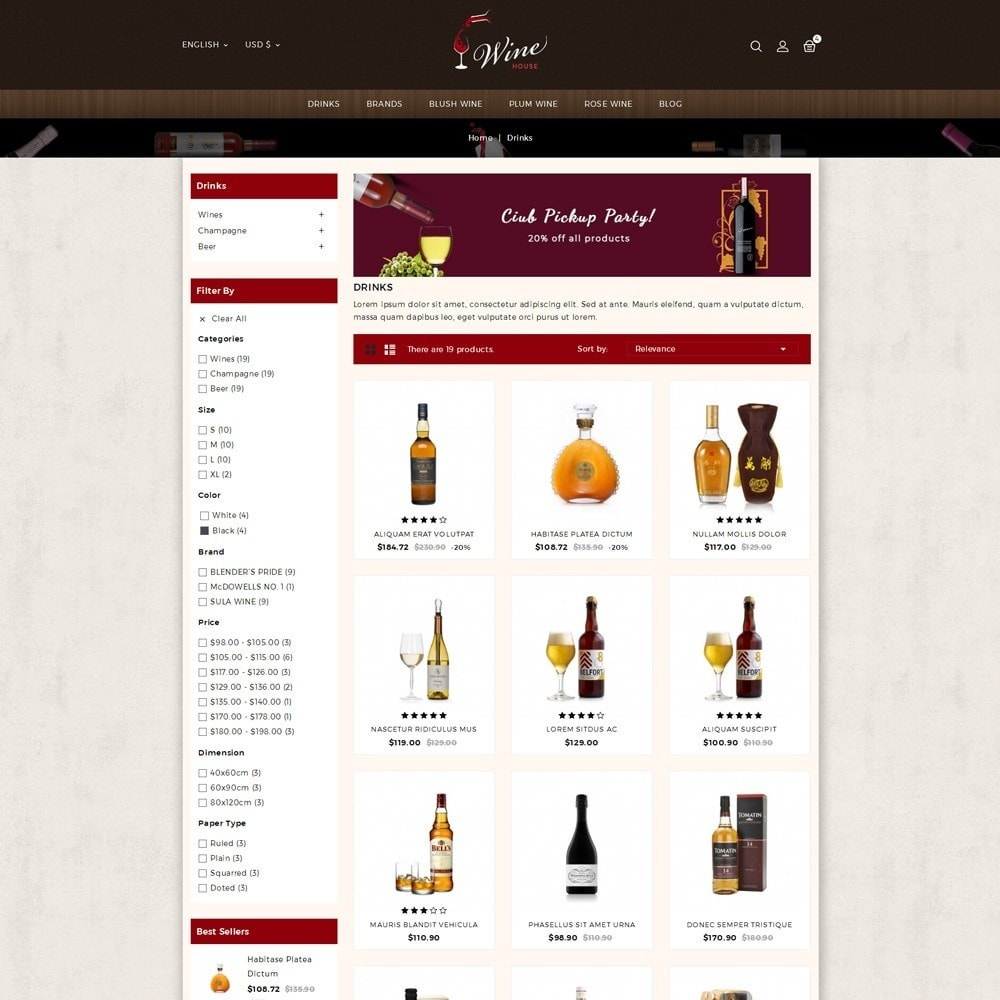 theme - Drink & Tobacco - Wine House Online Store - 3