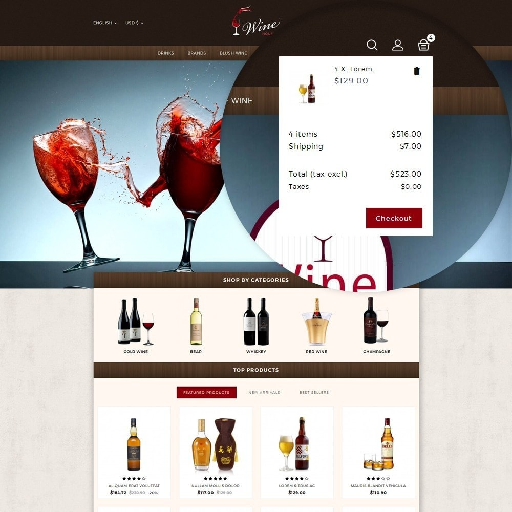 theme - Drink & Tobacco - Wine House Online Store - 8