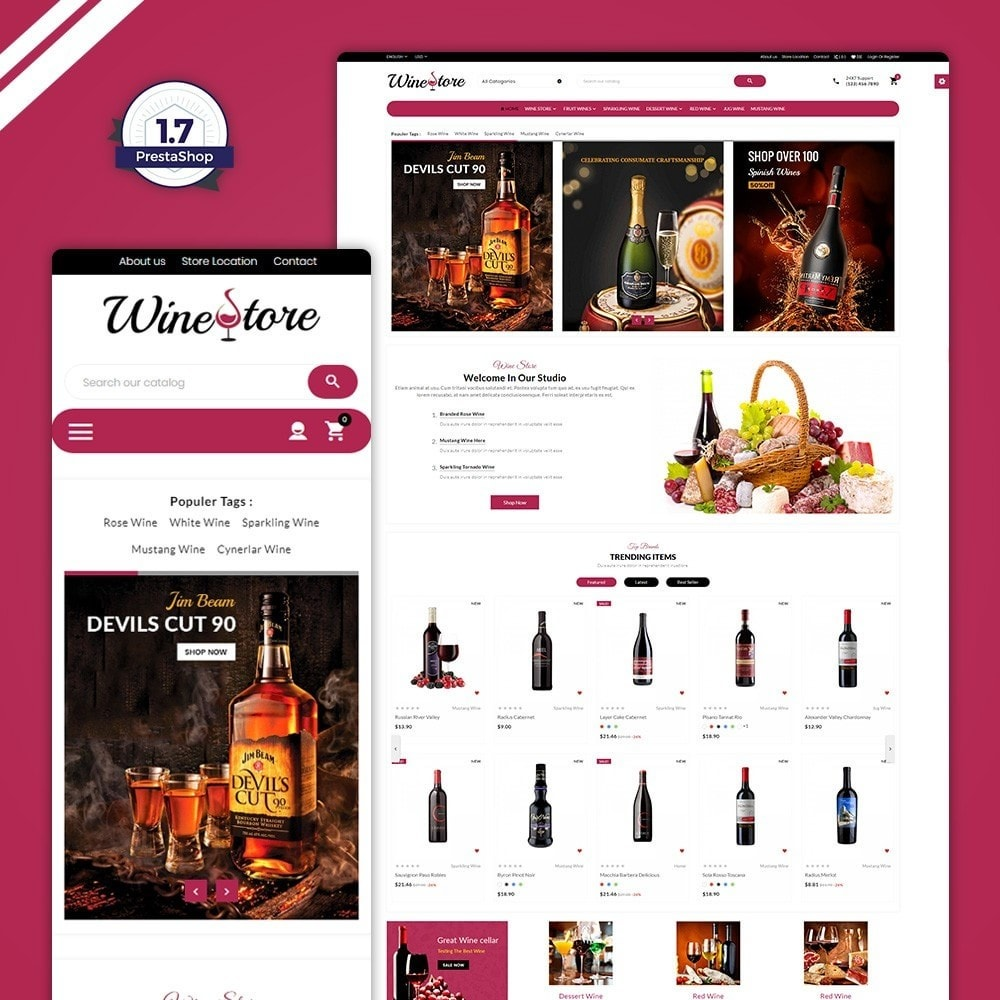 theme - Boissons & Tabac - The Wine Store – France Wine Shop - 1