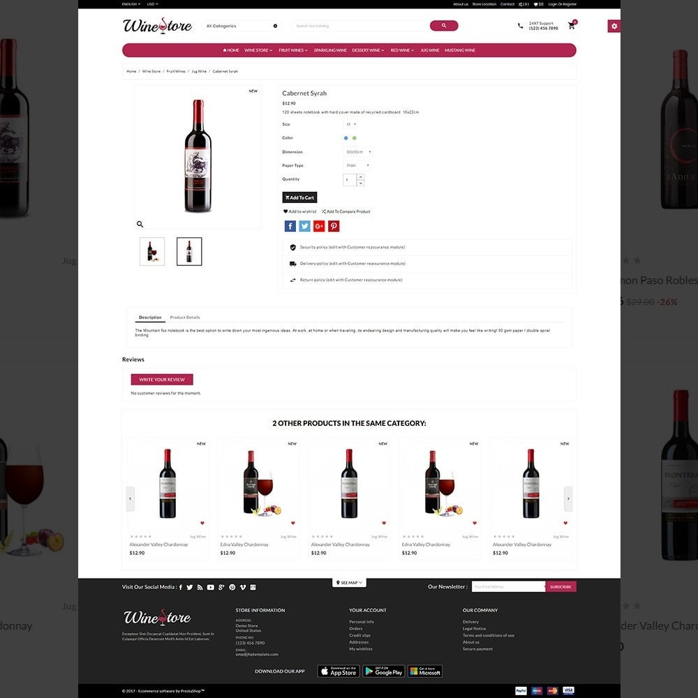 theme - Boissons & Tabac - The Wine Store – France Wine Shop - 4