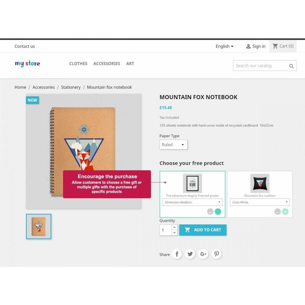 module - Promoções & Brindes - Free Product Gifts - 1