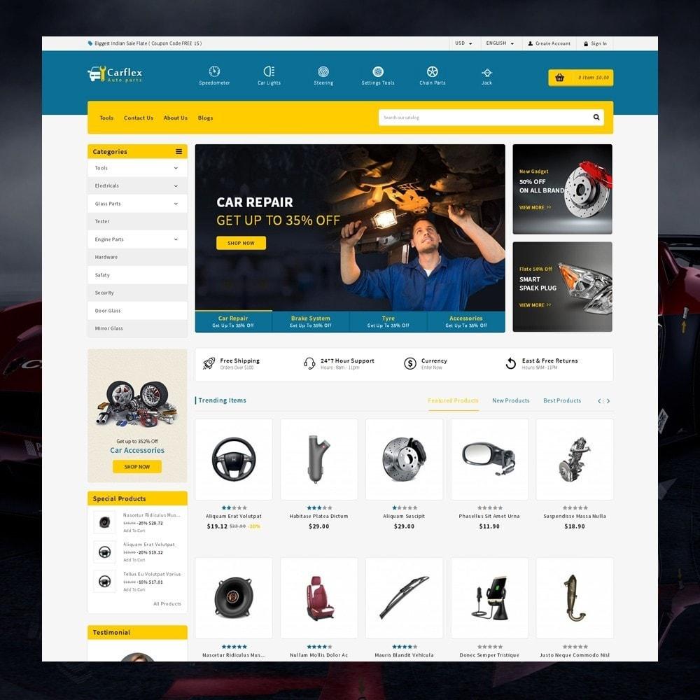 theme - Automotive & Cars - CarFlex - The AutoParts Store - 1