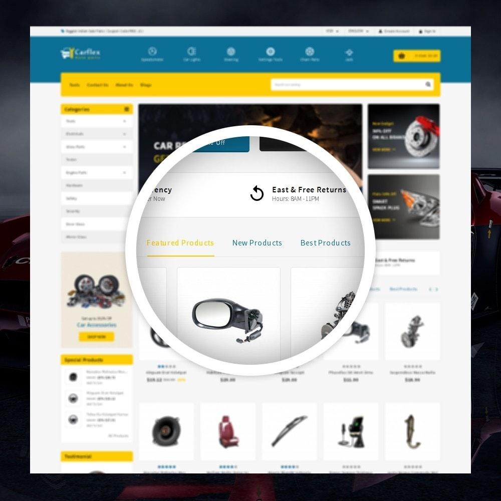 theme - Automotive & Cars - CarFlex - The AutoParts Store - 9