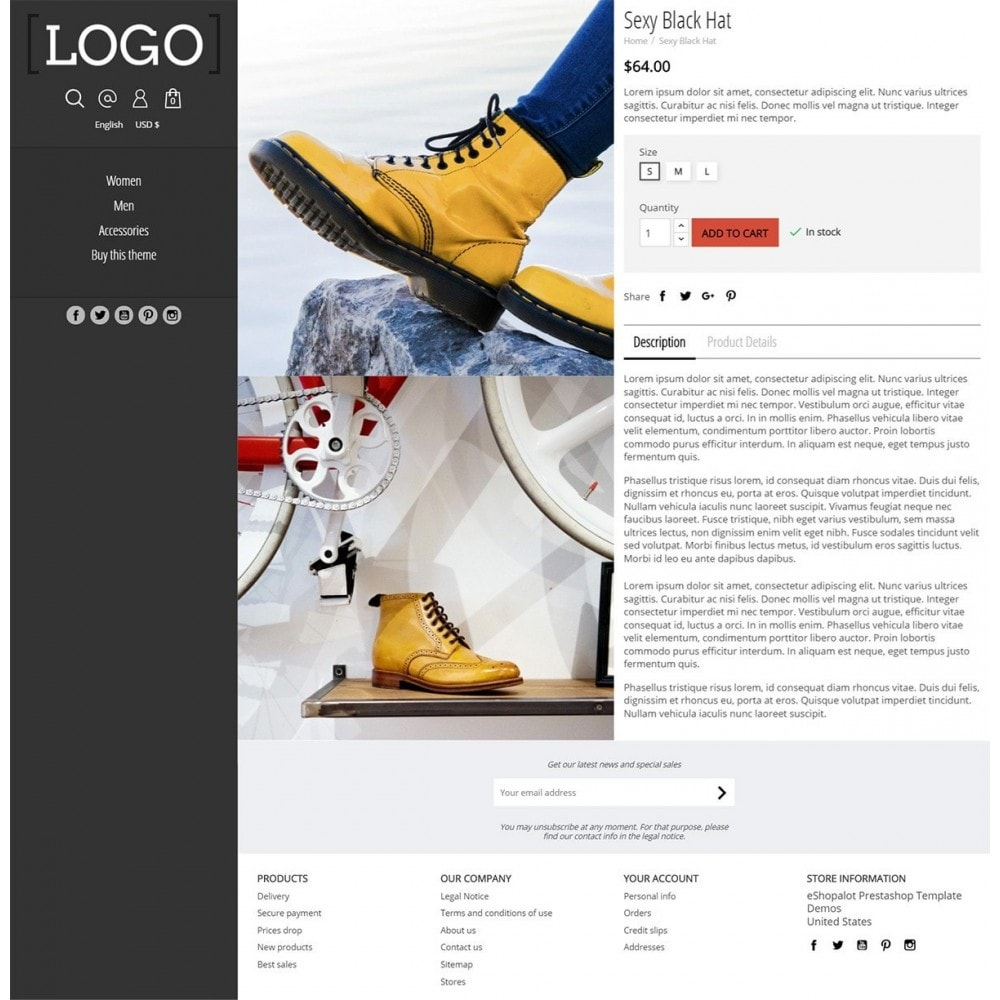 theme - Mode & Schuhe - Alluring - Parallax Masonry Modern - 4