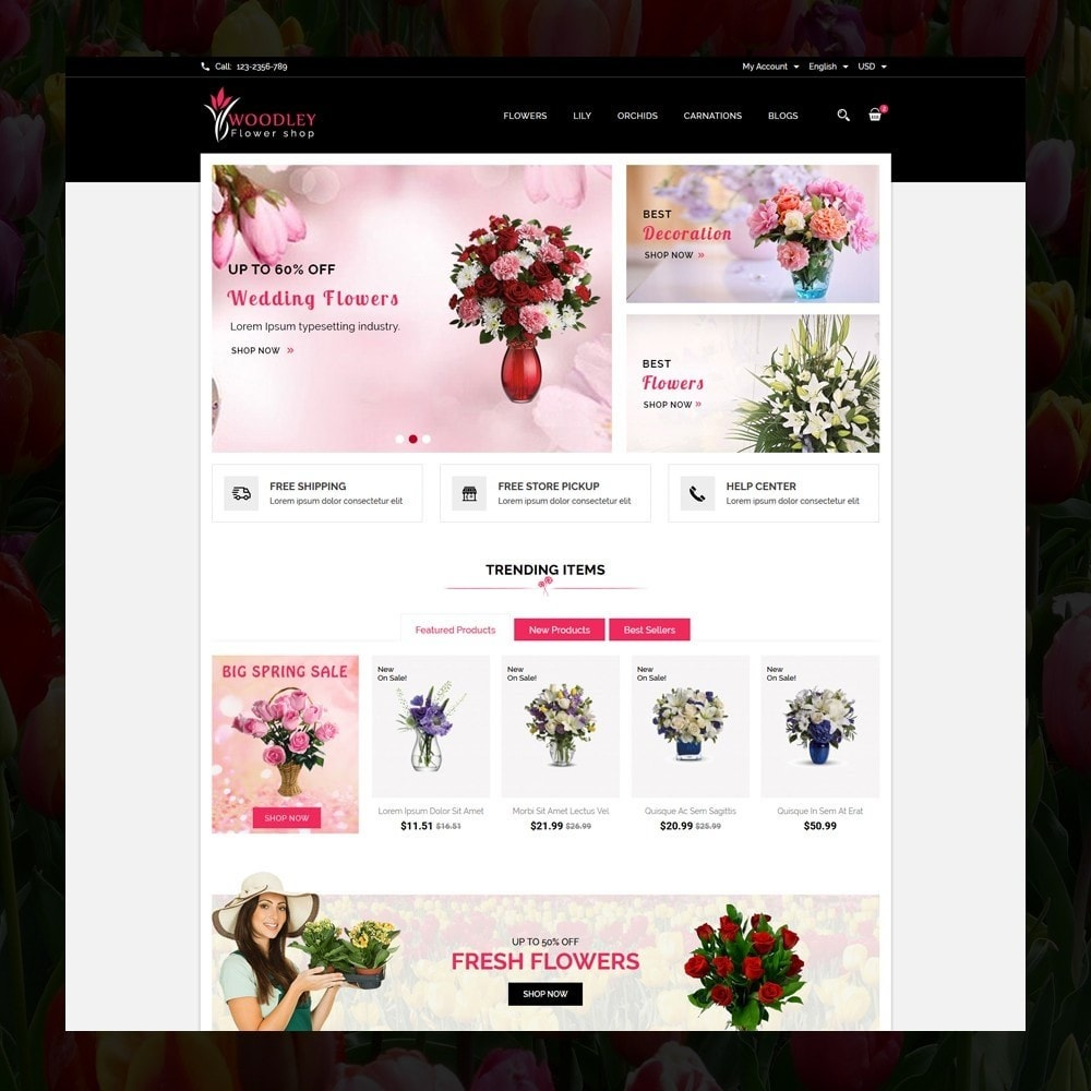 theme - Presentes, Flores & Comemorações - Woodley - The Flowers Shop - 2