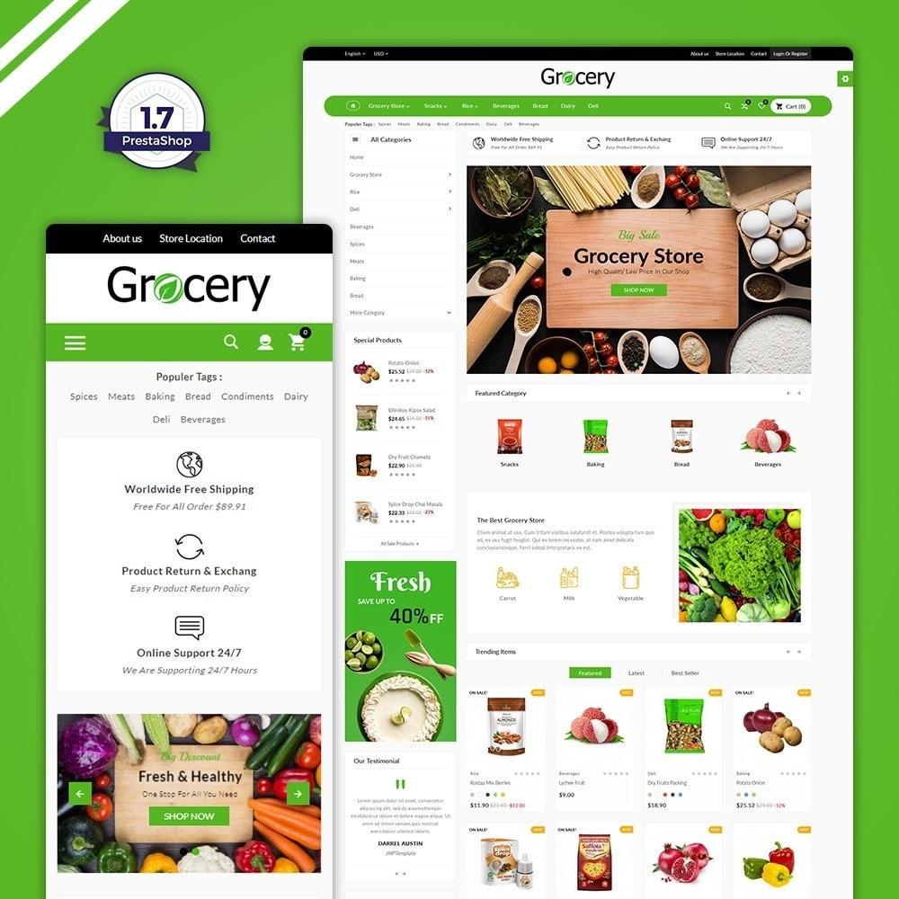 theme - Alimentation & Restauration - Grocery Mega Shop - 1