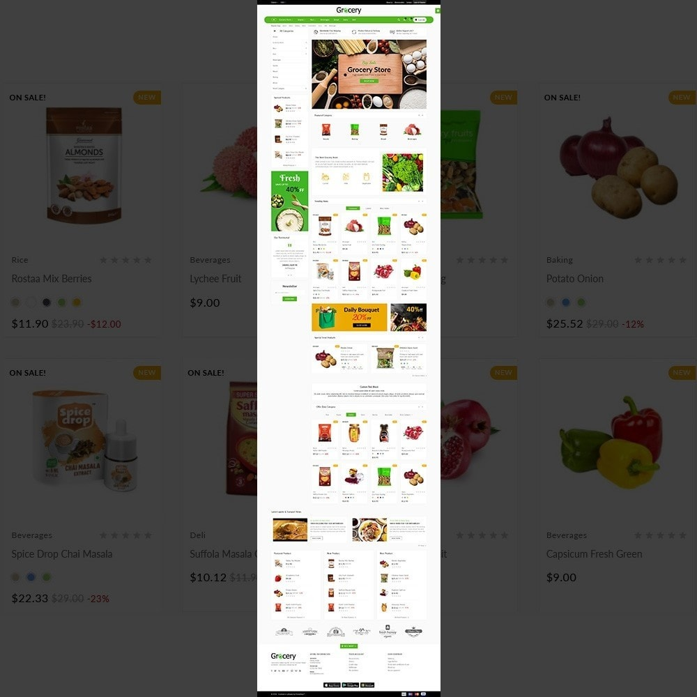 theme - Alimentation & Restauration - Grocery Mega Shop - 2