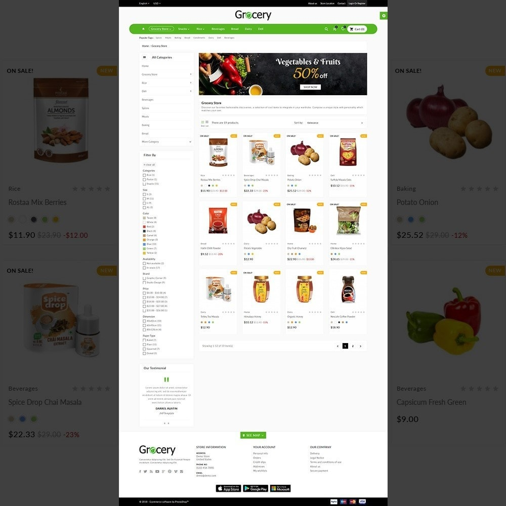 theme - Food & Restaurant - Grocery Mega Food–Vegitable Shop - 3