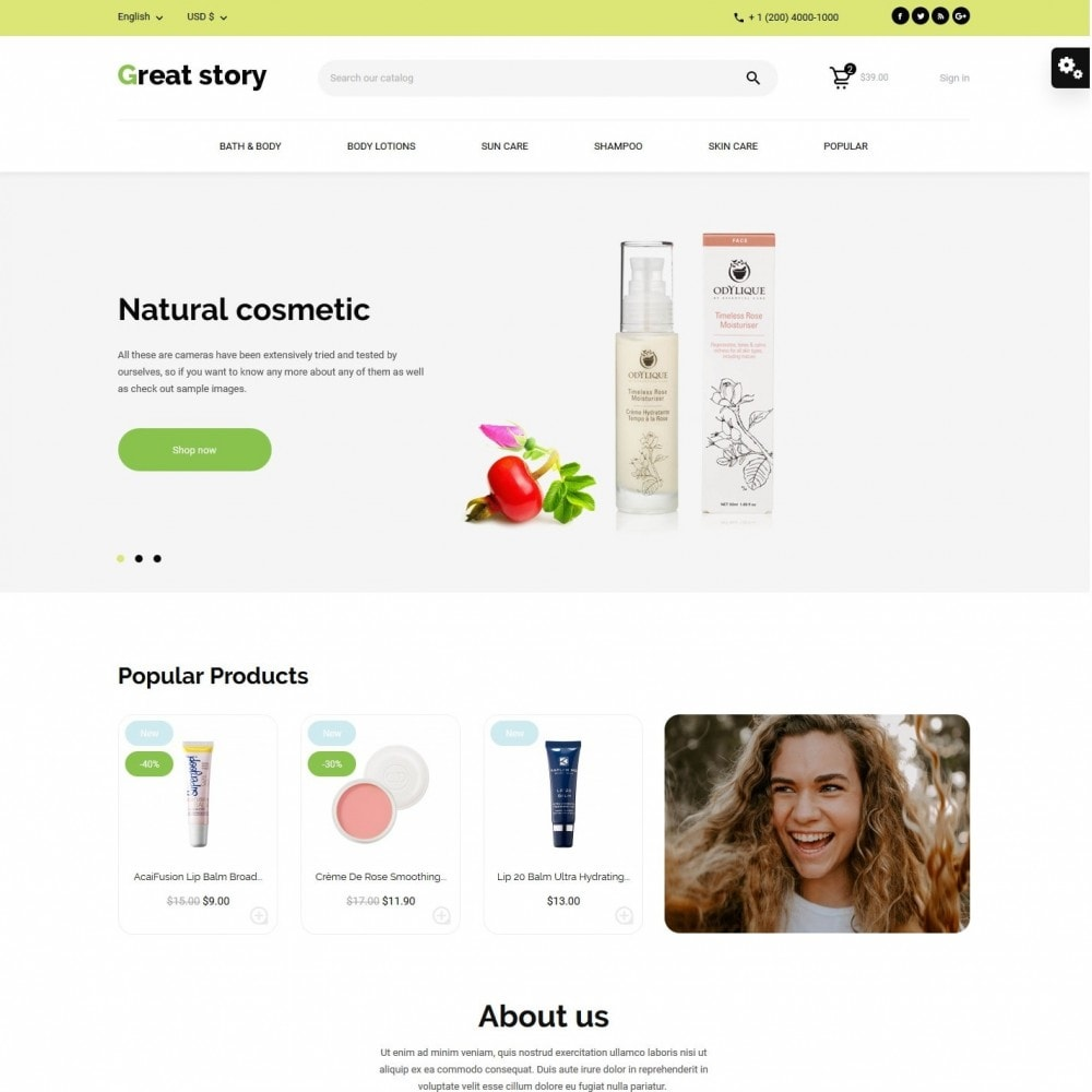 theme - Health & Beauty - Great story Cosmetics - 2
