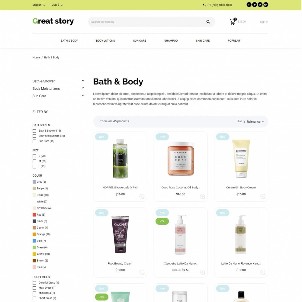 theme - Health & Beauty - Great story Cosmetics - 5