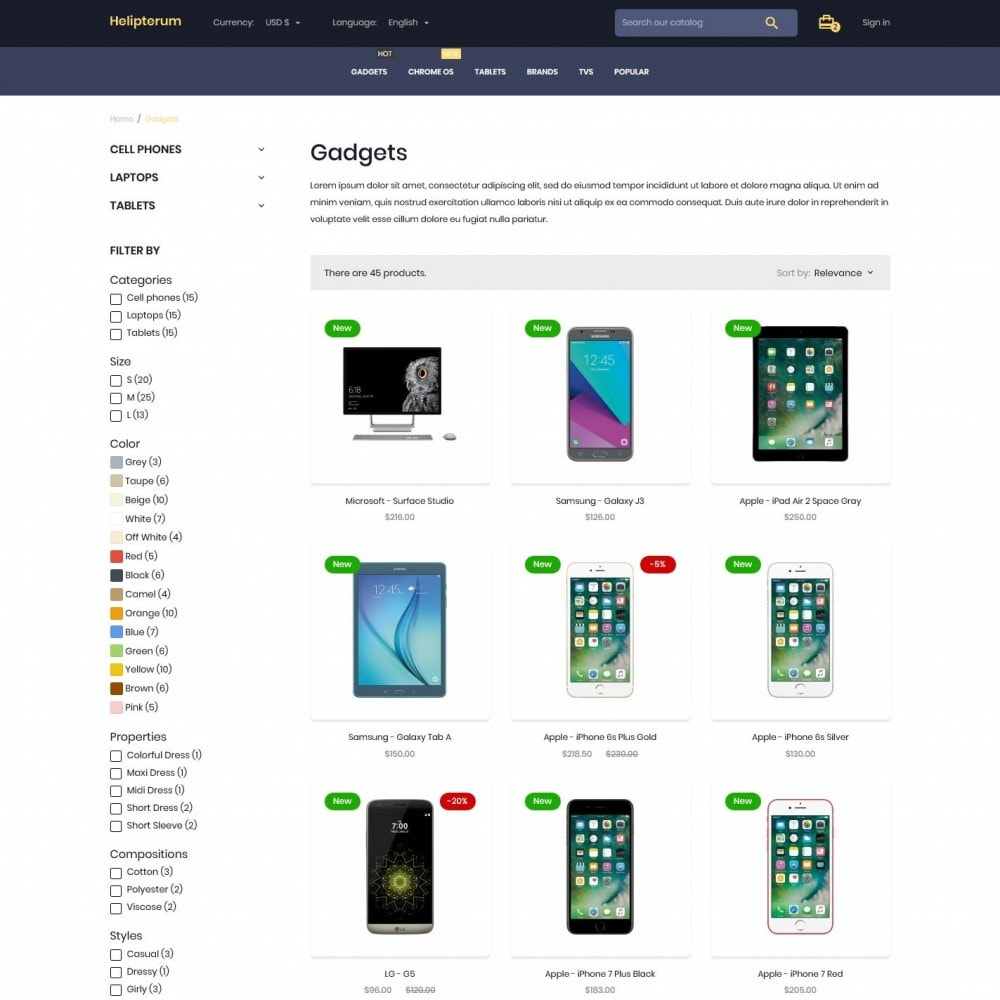 theme - Electronics & Computers - Helipterum - High-tech Shop - 5