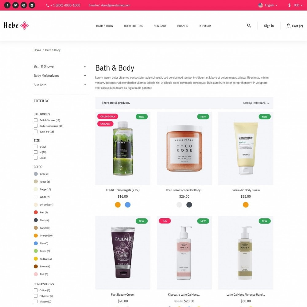 theme - Santé & Beauté - Hebe Cosmetics - 5