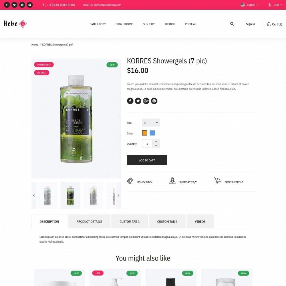 theme - Santé & Beauté - Hebe Cosmetics - 6
