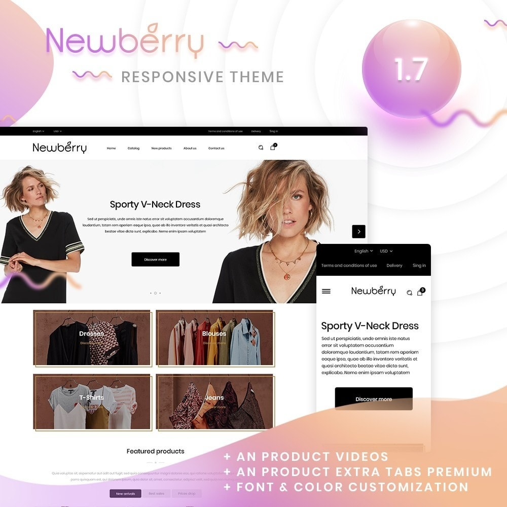 theme - Mode & Chaussures - Newberry Fashion Store - 1