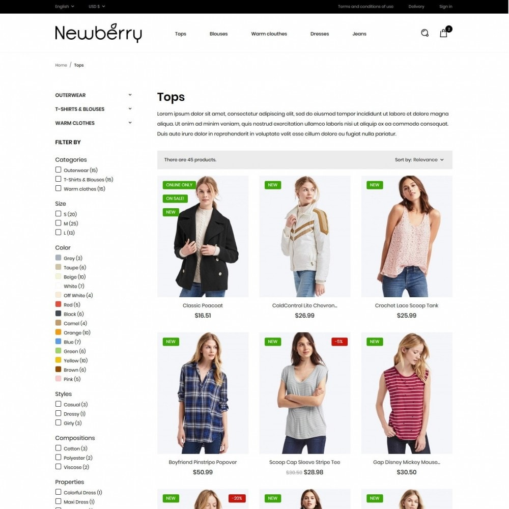 theme - Mode & Chaussures - Newberry Fashion Store - 5